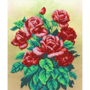 Букет алых роз Набор для частичной вышивки бисером Паутинка