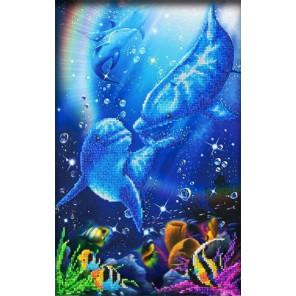 Дельфин Набор для частичной вышивки бисером Паутинка