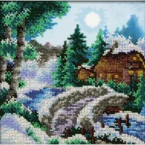 Зимний пейзаж Набор для частичной вышивки бисером Паутинка