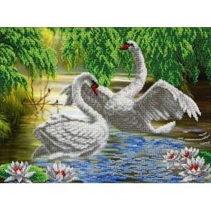 Лебеди Набор для частичной вышивки бисером Паутинка