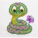 Змеечка Набор для частичной вышивки бисером Паутинка