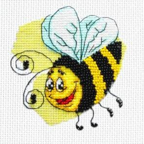 Пчелка Набор для частичной вышивки бисером Паутинка