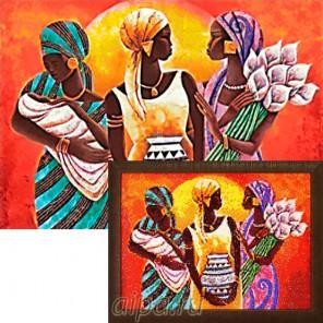Африканские женщины Алмазная вышивка мозаика Гранни
