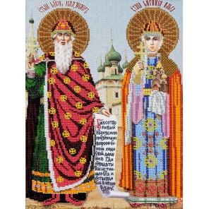 Святые Ольга и Владимир Набор для частичной вышивки бисером Вышиваем бисером