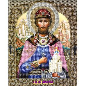 Святой Дмитрий Набор для частичной вышивки бисером Вышиваем бисером