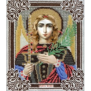 Святой Архангел Михаил Набор для частичной вышивки бисером Вышиваем бисером