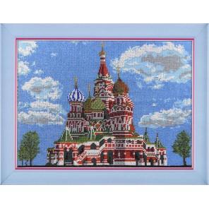 Храм Василия Блаженного Набор для частичной вышивки бисером Вышиваем бисером