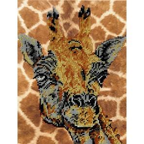 Жираф Набор для частичной вышивки бисером Вышиваем бисером
