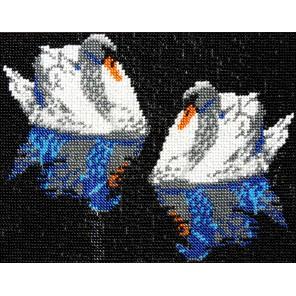 Лебеди Набор для частичной вышивки бисером Вышиваем бисером