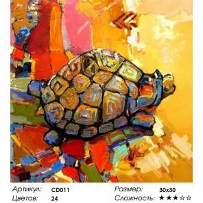 Черепаха удачи Раскраска картина по номерам акриловыми красками на холсте Color Kit