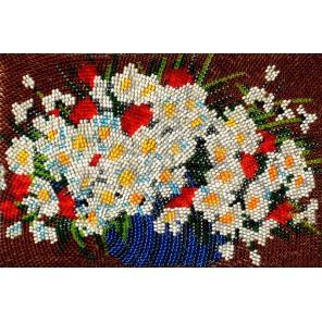 Полевые цветы Набор для частичной вышивки бисером Вышиваем бисером