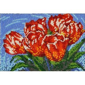 Тюльпаны Набор для частичной вышивки бисером Вышиваем бисером