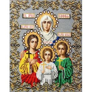 Святые Вера, Надежда, Любовь и Софья Набор для частичной вышивки бисером Вышиваем бисером