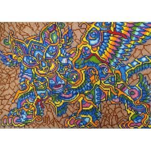 Кот Баюн Набор для частичной вышивки бисером Вышиваем бисером
