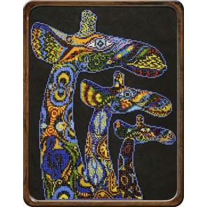 Жирафы Набор для частичной вышивки бисером Вышиваем бисером