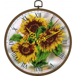 Часы Желтое настроение Набор для частичной вышивки бисером Вышиваем бисером