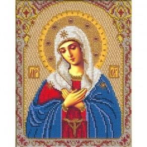 Богородица Умиление Набор для частичной вышивки бисером Русская искусница