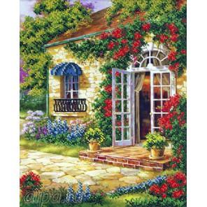Дом в саду Набор для частичной вышивки бисером Русская искусница