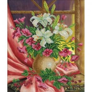 Прекрасных лилий нежный аромат... Набор для частичной вышивки бисером Русская искусница