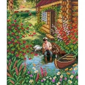 Летом в деревне Набор для частичной вышивки бисером Русская искусница