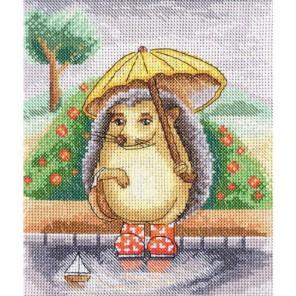 Ёжик с зонтиком Э. Молявко Набор для вышивания Золотое Руно