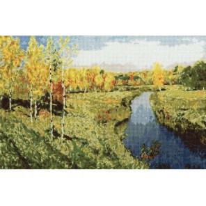 Золотая осень Исаака Левитана Набор для вышивания Золотое Руно