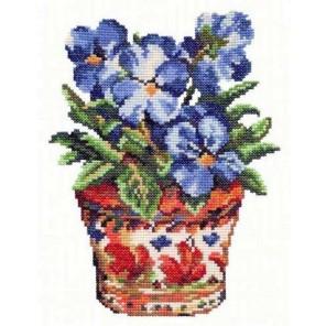 Синие фиалки Набор для вышивания Чудесная игла