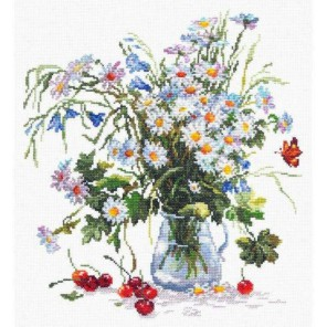 Ромашки и колокольчики Набор для вышивания Чудесная игла