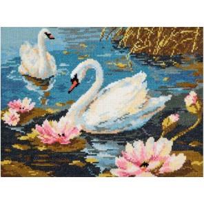 Лебединая пара Набор для вышивания Чудесная игла