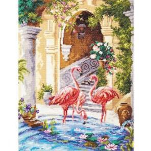 Розовый фламинго Набор для вышивания Чудесная игла