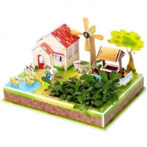 Ферма и ветряная мельница 3D Пазлы Zilipoo