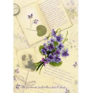 Письмо о любви. Фиалки Набор для вышивания Риолис