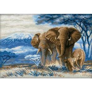 Слоны в саванне Набор для вышивания Риолис