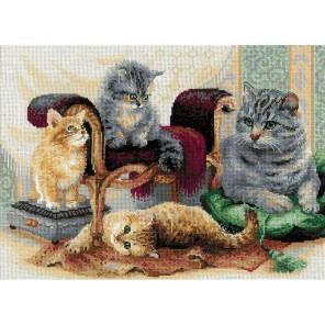 Кошачье семейство Набор для вышивания Риолис