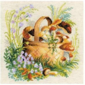 Грибное лукошко Набор для вышивания Риолис