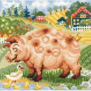 Хуторок. Свинка Набор для вышивания Риолис