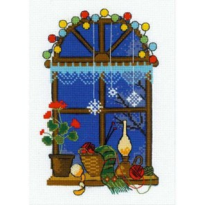 Зимнее окошко Набор для вышивания Риолис