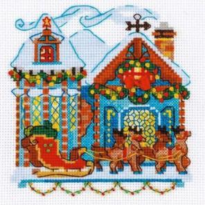Домик с санями Набор для вышивания Риолис