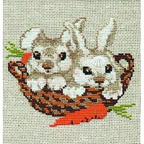 Зайцы Набор для вышивания Риолис
