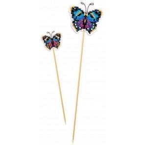 Украшение для цветов. Бабочка Набор для вышивания Риолис