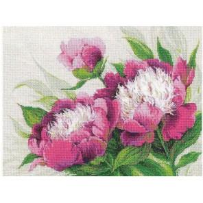 Розовые пионы Набор для вышивания Риолис