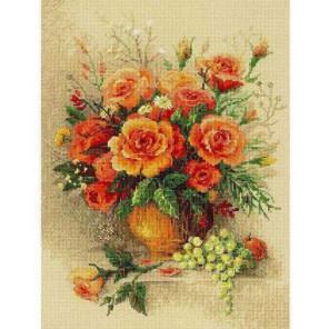 Чайные розы Набор для вышивания Риолис
