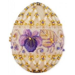 Яйцо. Фиалки Набор для бисероплетения Риолис