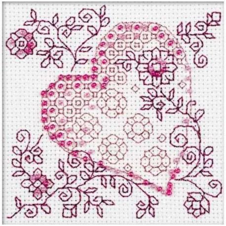 Нежное сердце Набор для вышивания Риолис
