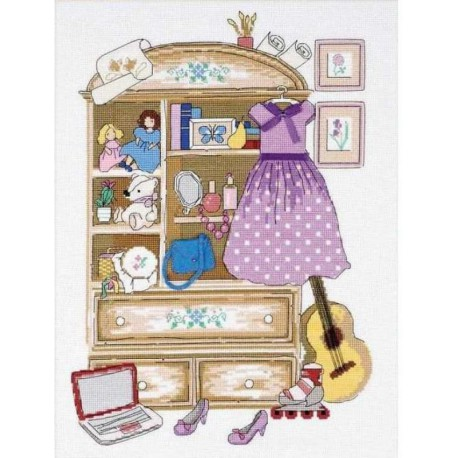 Шкафчик для девочки Набор для вышивания Риолис