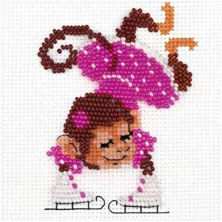Фигуристка Набор для вышивания Риолис