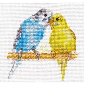 Попугайчики Набор для вышивания Алиса