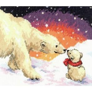 Белые медведи Набор для вышивания Алиса