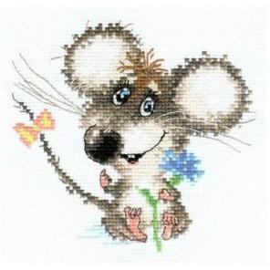 Влюбленный мышонок Набор для вышивания Алиса