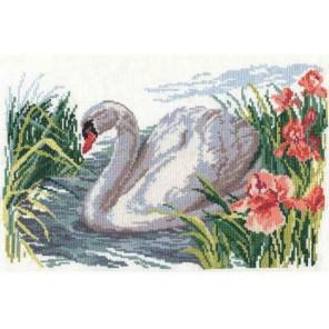 Белый лебедь Набор для вышивания Алиса